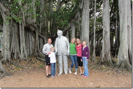 Us with Tom in front of the biggest Banyan tree in the country.