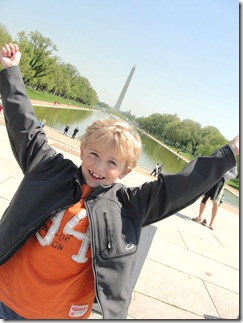 Washington Monument...and one great kid!